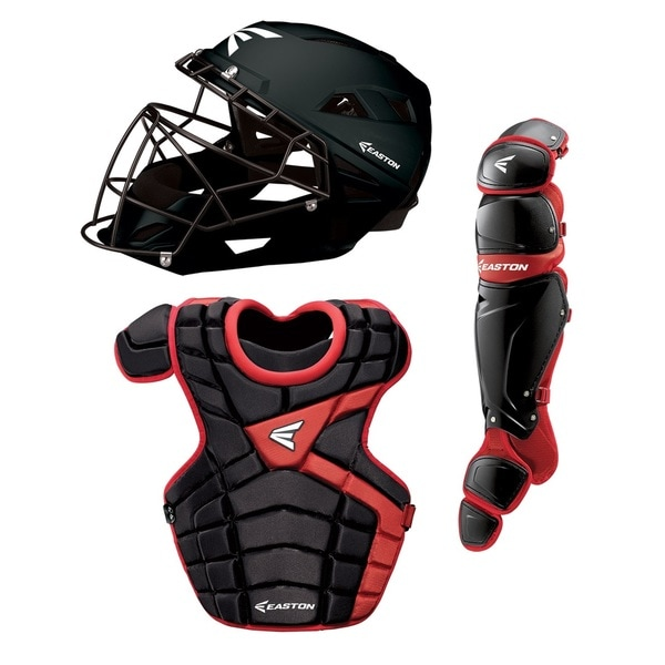 M10 Youth Catcher Set Black Red