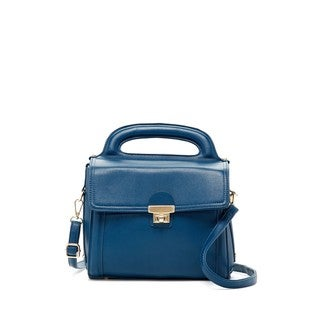 Pink Haley Scarlett Faux Leather Front Lock Satchel Handbag