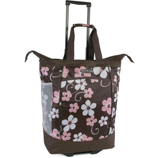 Pacific Coast Hawaiian Pink Polyester Rolling Shopper Tote Bag