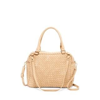 Pink Haley Rorie Faux Leather Woven Satchel Handbag