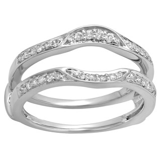 Elora 18K Gold 1/4ct TDW Diamond Enhancer Double Ring Guard Band (H-I & I1-I2)