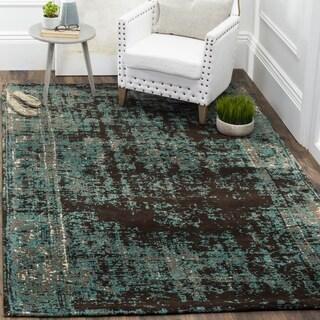 Safavieh Classic Vintage Teal/ Brown Cotton Distressed Rug (3' x 5')