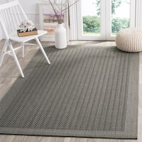 Safavieh Palm Beach Natural Fiber Ash Grey Rug - 3' x 5'