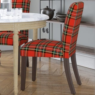 Skyline Furniture Ancient Stewart Red Fabric Dining Chair