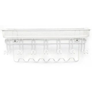 Sorbus White Metal 13-hook Wall-mounted Jewelry Organizer Storage Shelf
