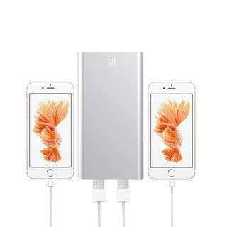 Lax Grey/Pink/Gold/Silver Aluminum/Plastic 10000mAh Hi-speed Dual USB External Battery Power Bank
