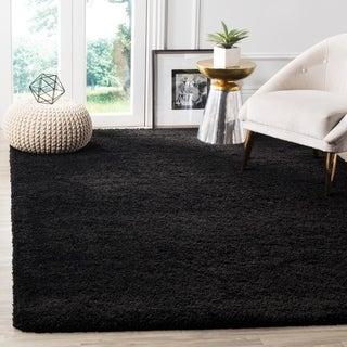 Safavieh Milan Shag Black Rug (4' x 6')