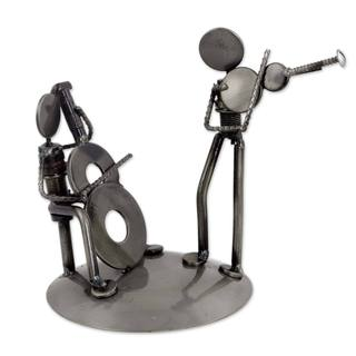 Handmade Recycled Auto Parts 'Cello and Violin Duet' Sculpture (Mexico)