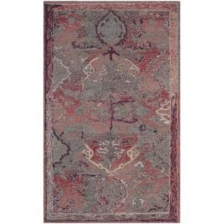 Safavieh Handmade Vintage Oushak Red Distressed Silky Polyester Rug (3' x 5')