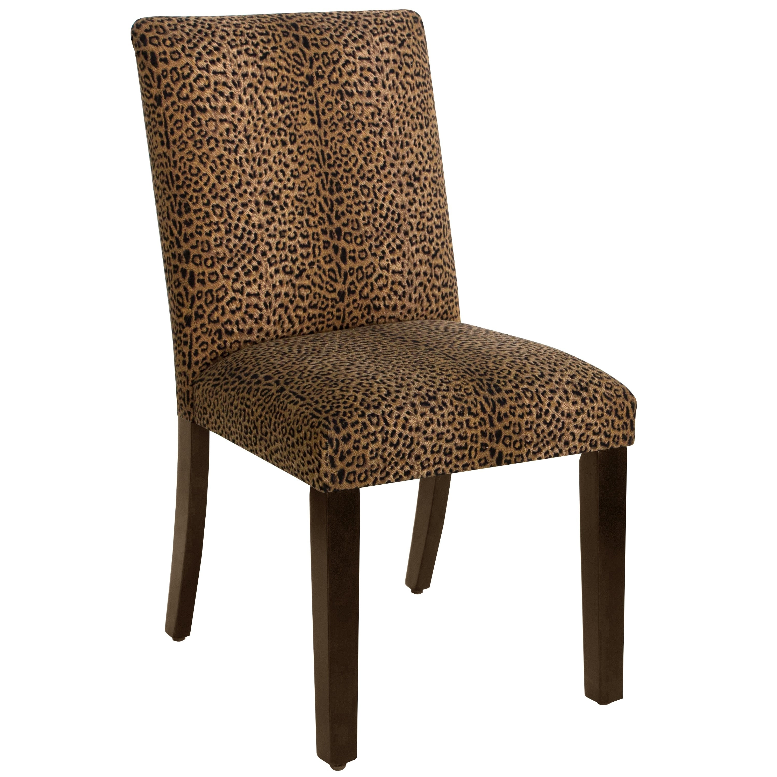 Skyline Cheeta Earth Cotton Upholstered Dining Chair (Che...