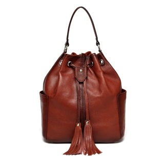 Vicenzo Leather Chalise Leather Bucket Bag/Backpack