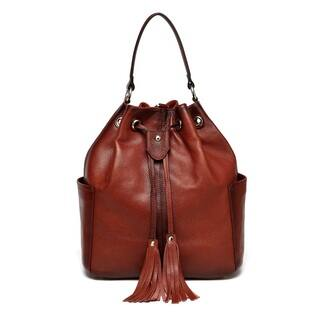 Vicenzo Leather Chalise Leather Bucket Bag/Backpack|https://ak1.ostkcdn.com/images/products/12930929/P19684028.jpg?impolicy=medium
