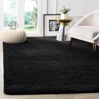 Safavieh Milan Shag Black Rug (6' x 9')