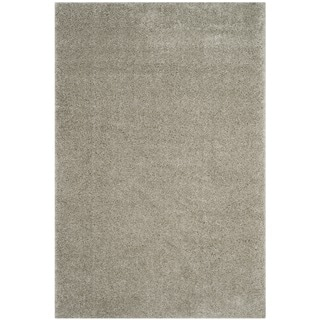 Safavieh Arizona Shag Southwestern Silver Rug (9' x 12')