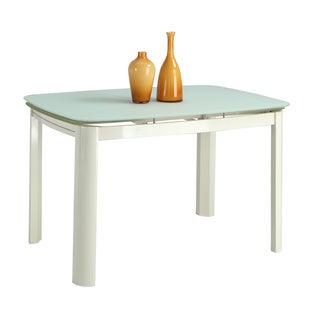 Christopher Knight Home Annie Beige Metal and Glass Dining Table