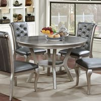 Furniture of America Valencia Champagne Gold Round Dining Table