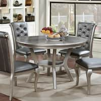 Furniture of America Mora Contemporary Champagne Round Dining Table - N/A