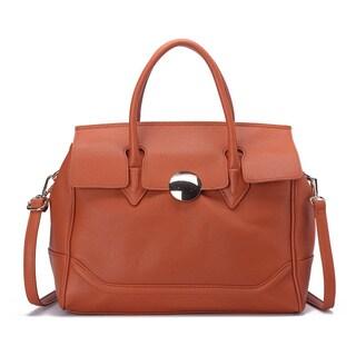Pink Haley Serena Faux Leather Satchel Handbag