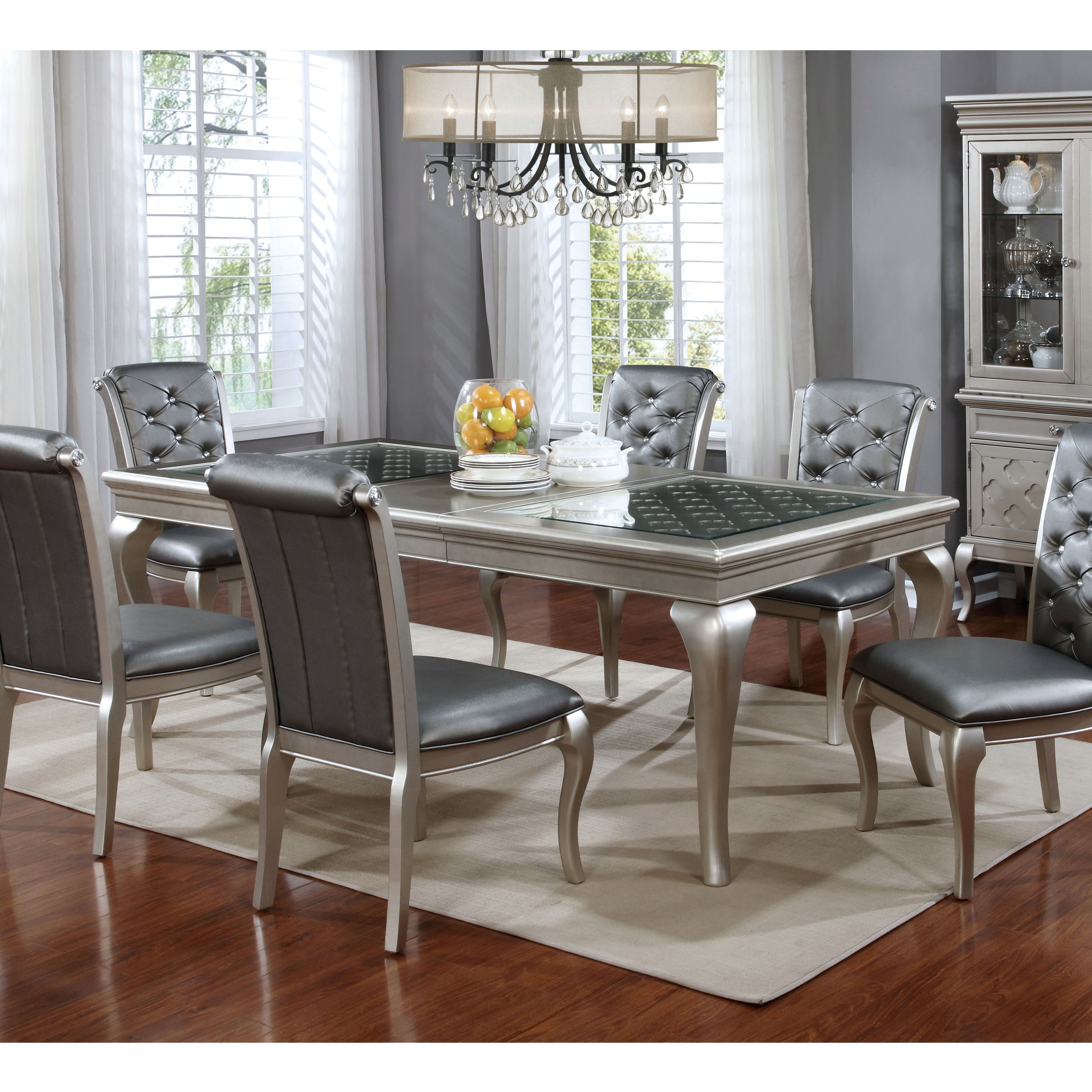 Furniture Of America Valencia Champagne Gold 66 Dining Table