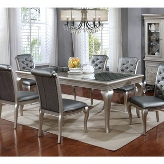 "Furniture of America Mora Contemporary Champagne 66"" Dining Table"