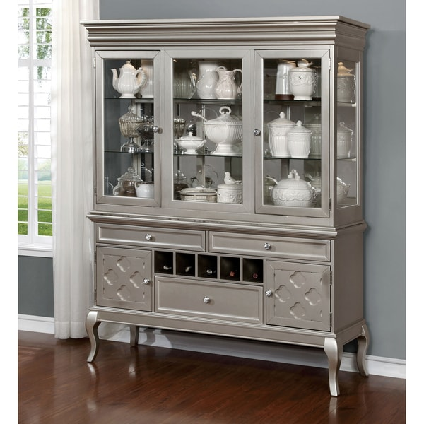Dining Room Buffet Hutch: Shop Furniture Of America Mora Contemporary Champagne 2