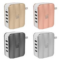 LAX Smartpower 4 Port USB Wall Charger Fast Charging for iPhone, iPad, Samsung, Tablets