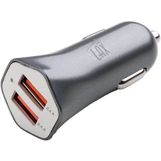 Lax 4.8 Amp Dual USB Port Car Charger for Apple or Android Smartphone