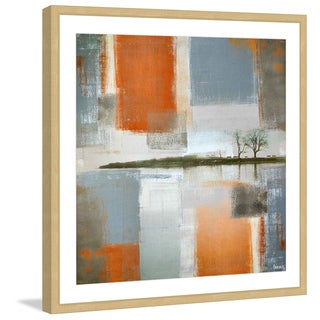 Parvez Taj - 'Through Orange and Grey' Framed Painting Print