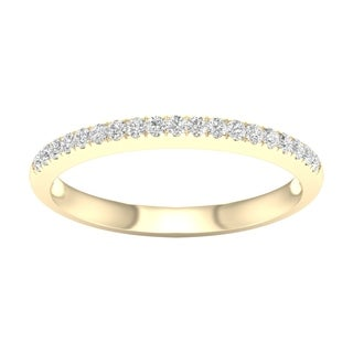 De Couer 10k Yellow Gold 1/5ct TDW Wedding Band (H-I, I2)