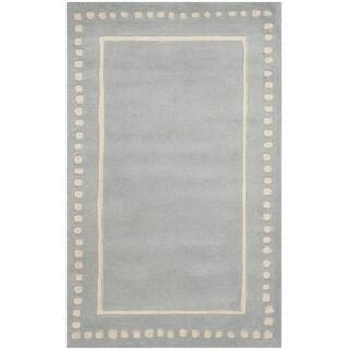 Safavieh Handmade Bella Light Blue / Ivory Wool Rug (2' 6 x 4')