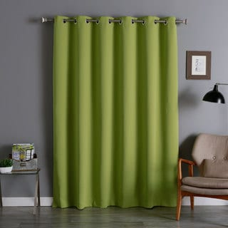 Aurora Home Silver Grommet Top Wide Width Thermal Insulated Blackout Curtain Panel (Exclusive)