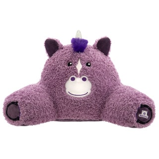 Bed Rest Unicorn Purple Polyester/Polypropylene Throw Pillow