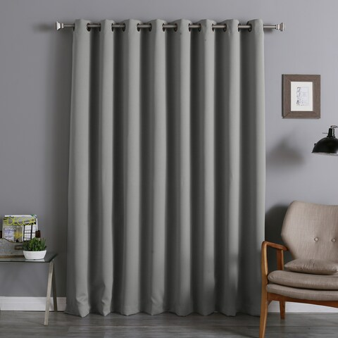 Aurora Home Antique Bronze Grommet Top Wide Width Thermal Insulated Blackout Curtain Panel