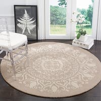 Safavieh Handmade Bella Beige / Ivory Wool Rug (5' Round)