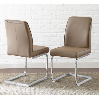 Greyson Living Setwick Faux Leather Dining Chair  Set of 2 - 41 inches high x 17 inches wide x 23 inches deep