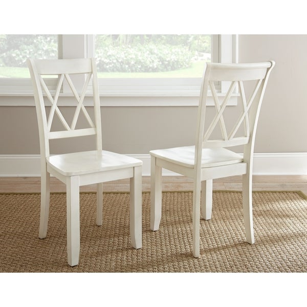 Aspen Double X-back Dining Chair Set of 2 by Greyson Living  sc 1 st  Overstock.com & Aspen Double X-back Dining Chair Set of 2 by Greyson Living - Free ...