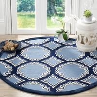 Safavieh Handmade Bella Navy / Blue Wool Rug - 5' Round