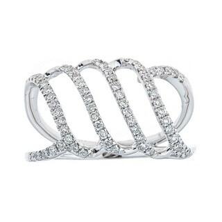 Anika and August 18k White Gold 2/5ct TDW Diamond Ring