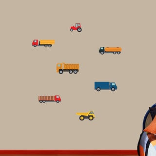 Sweetums 'Work Trucks Printed' Wall Decal