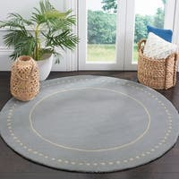 Safavieh Handmade Bella Light Blue / Ivory Wool Rug - 5' x 5' round
