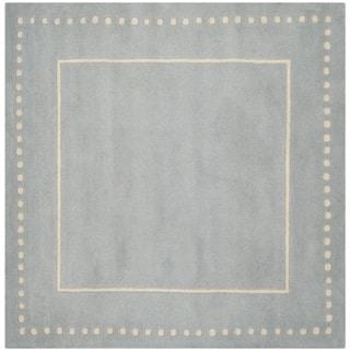 Safavieh Handmade Bella Light Blue / Ivory Wool Rug (5' Square)