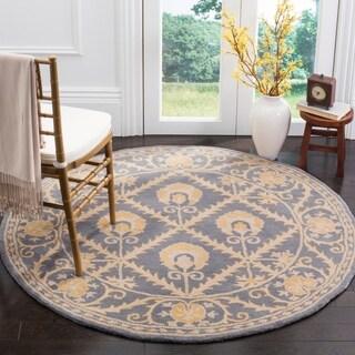 Safavieh Handmade Bella Blue / Gold Wool Rug (5' Round)