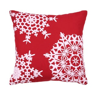 Affluence Multicolored Polyester Filled Holiday Throw Pillow