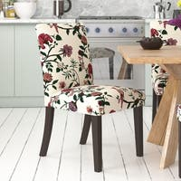Skyline Furniture Shaana Multicolored Fabric and Wood Dining Chair