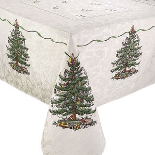 Avanti Spode Tree Multicolor Ployester and Cotton 60-inch x 84-inch Tablecloth