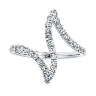 Anika and August 14k White Gold 5/8ct TDW Diamond Ring (G-H, SI1-SI2)