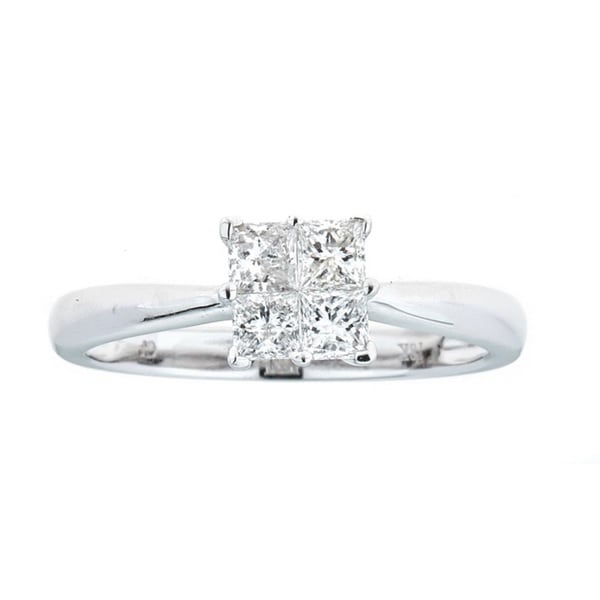 Anika and August 18k White Gold 1/2ct TDW Diamond Ring