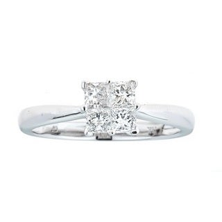 Anika and August 18k White Gold 1/2ct TDW Diamond Ring