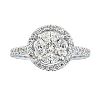 Anika and August 18k White Gold 1ct TDW Diamond Ring (G-H, SI1-SI2)