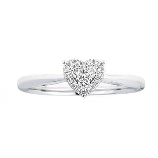 Anika and August 18k White Gold 1/6ct TDW Diamond Ring (G-H, SI1-SI2)